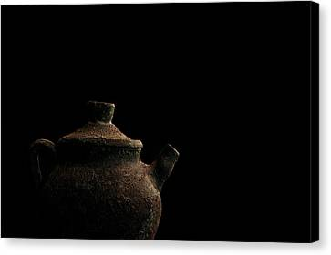 Canvas Print featuring the photograph An Old Pot by Marwan Khoury