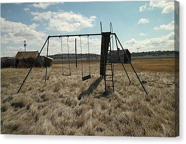 An Old Swingset Canvas Print