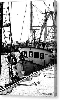 An Old Trawler Canvas Print