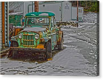 Canvas Print featuring the photograph An Old Truck by Timothy Latta