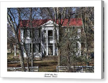 An Old White House Brentwood Tn Canvas Print by Gina Munger