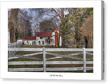 An Old White House Canvas Print