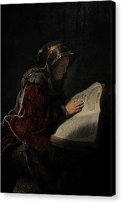 An Old Woman Reading, Probably The Prophetess Hannah, 1631, By Rembrandt 1606-1669 Canvas Print by Bridgeman Images