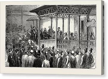 An Open Air Concert At The Hungarian Cafe Canvas Print