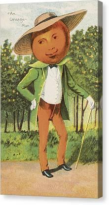 An Orange Man Canvas Print