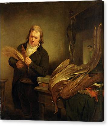 An Ornithologist, Probably John Latham An Ornithologist Canvas Print by Litz Collection