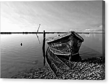 An Oyster Boat Canvas Print by Lynn Jordan