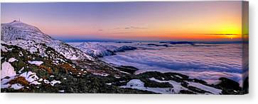 An Undercast Sunset Panorama Canvas Print