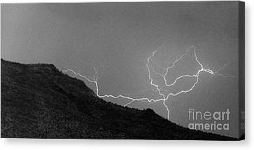 Canvas Print featuring the photograph An Uphill Run by J L Woody Wooden