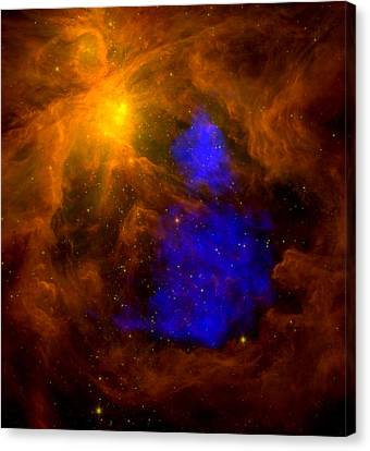 An X-ray Santa Claus In Orion Canvas Print by Space Art Pictures