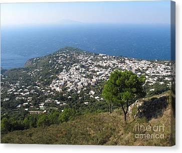 Italian Islands Canvas Print - Anacapri Monte Solaro View by Kiril Stanchev