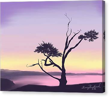 Canvas Print featuring the digital art Anacortes by Terry Frederick