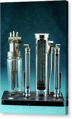Reliefs Canvas Print - Anaesthetic Gas Flow Meter by Science Photo Library