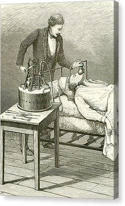 Anaesthetist Administering Chloroform Canvas Print by Universal History Archive/uig