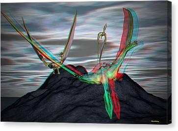 Anaglyph Quetzalcoatlus Canvas Print