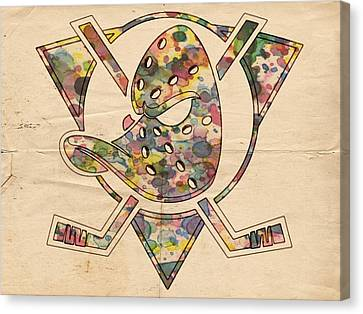 Anaheim Ducks Retro Poster Canvas Print