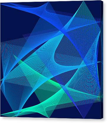 Canvas Print featuring the digital art Analgesic by Karo Evans