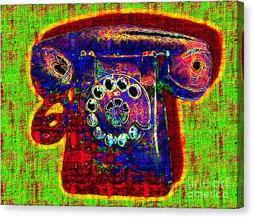 Analog A-phone - 2013-0121 - V2 Canvas Print by Wingsdomain Art and Photography