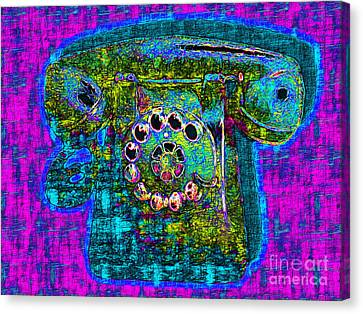Analog A-phone - 2013-0121 - V3 Canvas Print by Wingsdomain Art and Photography