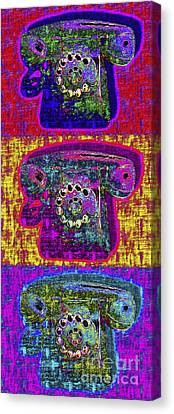 Analog A-phone Three - 2013-0121 Canvas Print by Wingsdomain Art and Photography