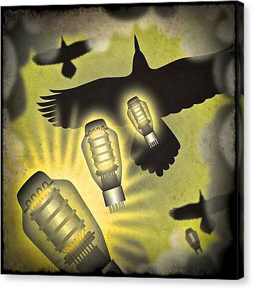 Analog Bombardment Canvas Print by Milton Thompson
