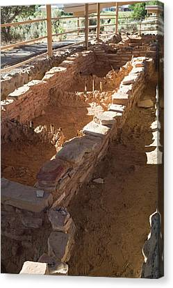 Anasazi Archaeological Excavations Canvas Print by Jim West