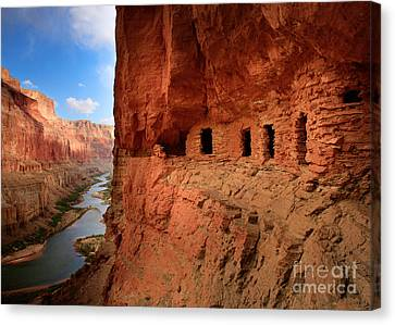 Colorado River Canvas Print - Anasazi Granaries by Inge Johnsson