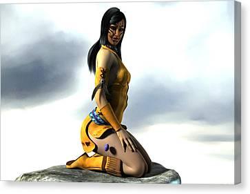 Anasazi Canvas Print by Aeabia A