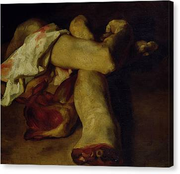 Anatomical Pieces Oil On Canvas Canvas Print by Theodore Gericault