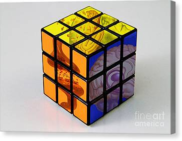 Anatomical Rubiks Cube Canvas Print by Spencer Sutton