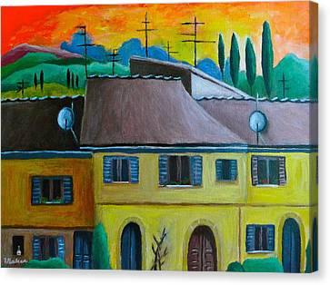 Ancient Volterra Wired Canvas Print