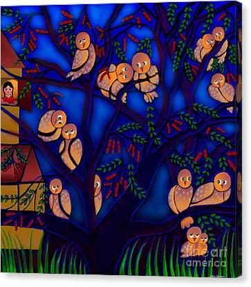 Ancestral Home Near The Tamarind Tree Canvas Print by Latha Gokuldas Panicker