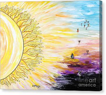 Anche Per Te Sorgera' Il Sole Canvas Print