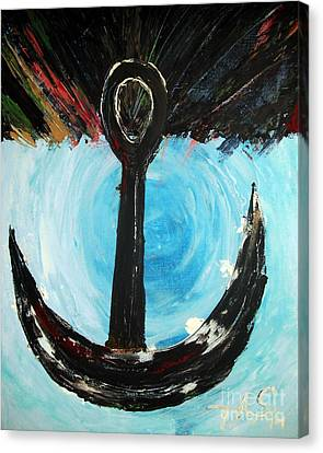Anchor In The Storm Canvas Print
