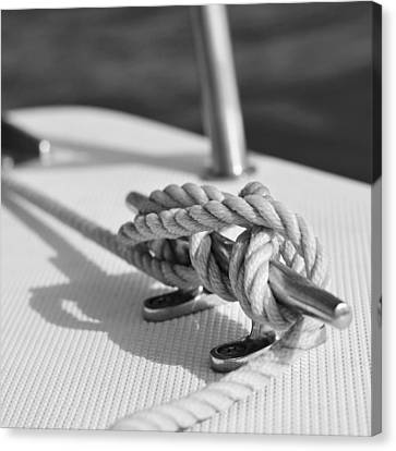 Anchor Line Canvas Print by Laura Fasulo