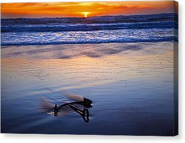 Anchor Ocean Beach Canvas Print by Garry Gay
