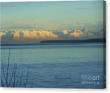 Anchorage Mountains Canvas Print