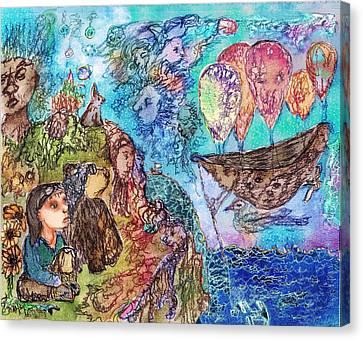 Anchored Beneath Canvas Print by Cynthia  Richards