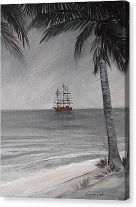 Anchored For The Night Canvas Print