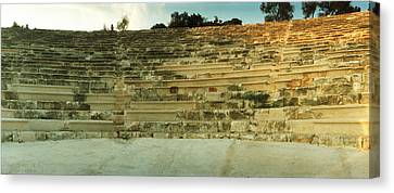 Ancient Antique Theater In Kas Canvas Print by Panoramic Images