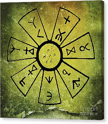 Ancient Astrology Canvas Print