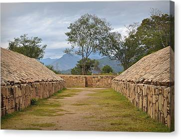 Ancient Ball Court Game In Mexico Canvas Print by Brandon Bourdages