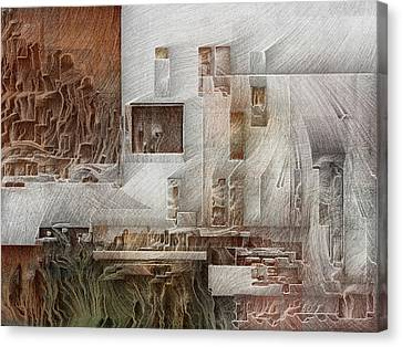 Ancient City 1 Canvas Print by David Hansen
