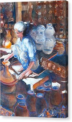 Artisan Canvas Print - Ancient Craft by Myra Evans