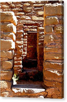Canvas Print featuring the photograph Ancient Doorways by Alan Socolik