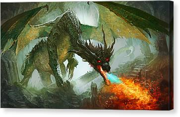 Ancient Dragon Canvas Print by Ryan Barger
