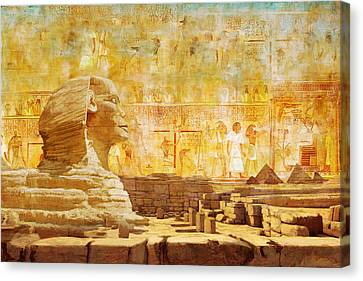 Ancient Egypt Civilization 08 Canvas Print by Catf