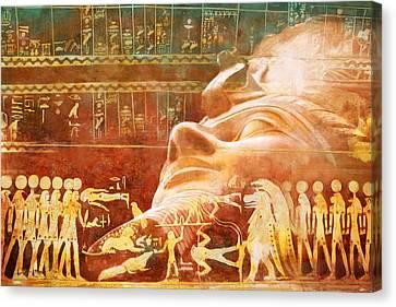 Ancient Egypt Civilization Detail 00 Canvas Print by Catf