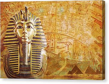 Ancient Egypt Civilization Detail 02 Canvas Print by Catf
