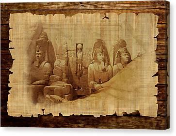 Ancient Egypt Civilization Detail 03 Canvas Print by Catf